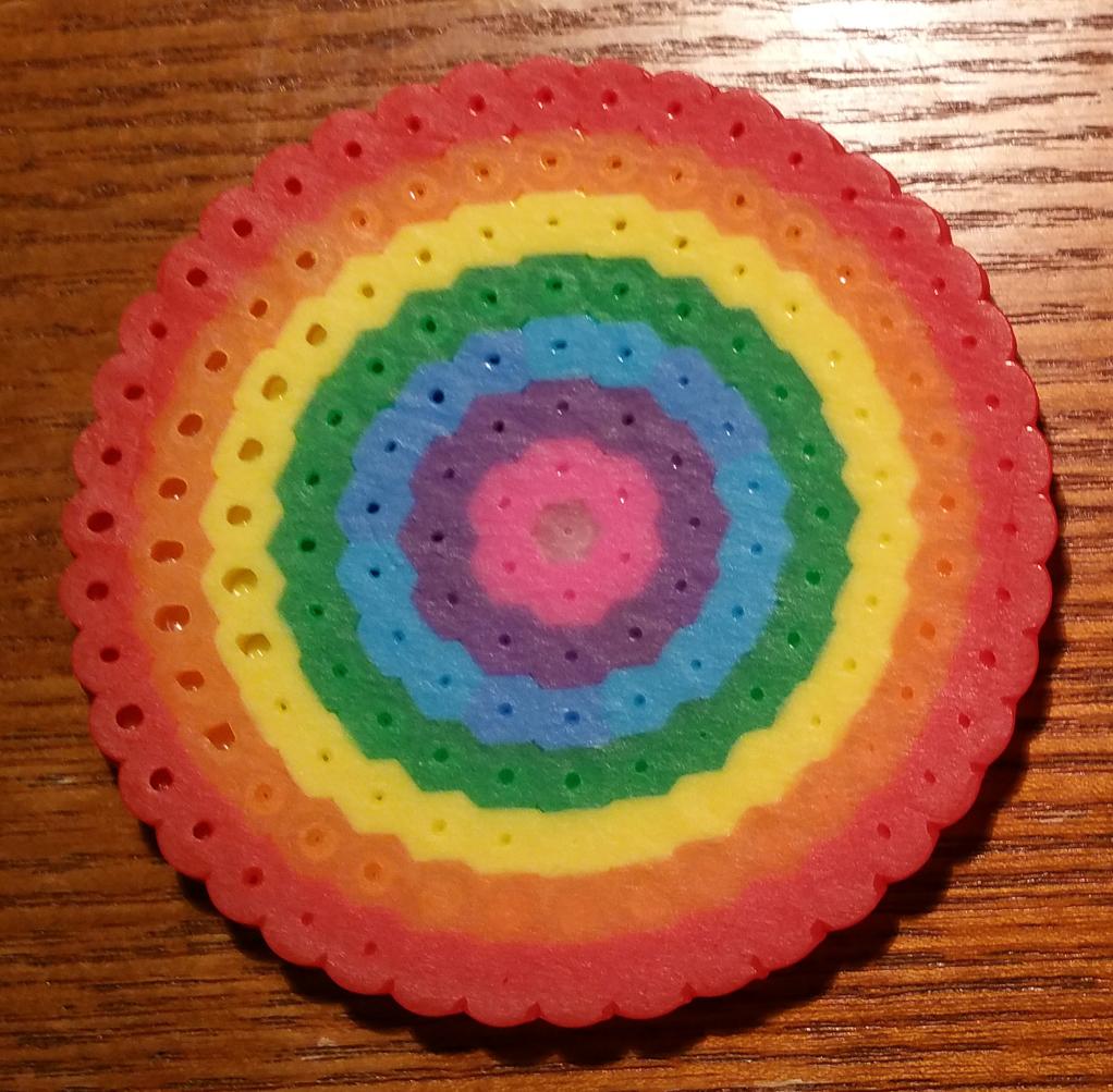 Perler Beads - Rainbow Circle
